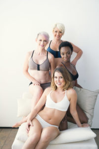 AnaOno Carefree Collection, modeled by women who underwent reconstruction.